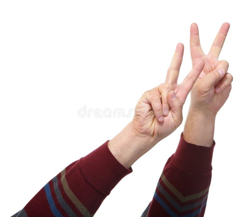 Händer med gester arkivfoton