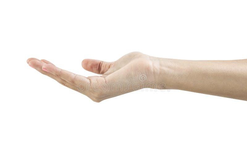 Händer som gör tecken arkivbilder