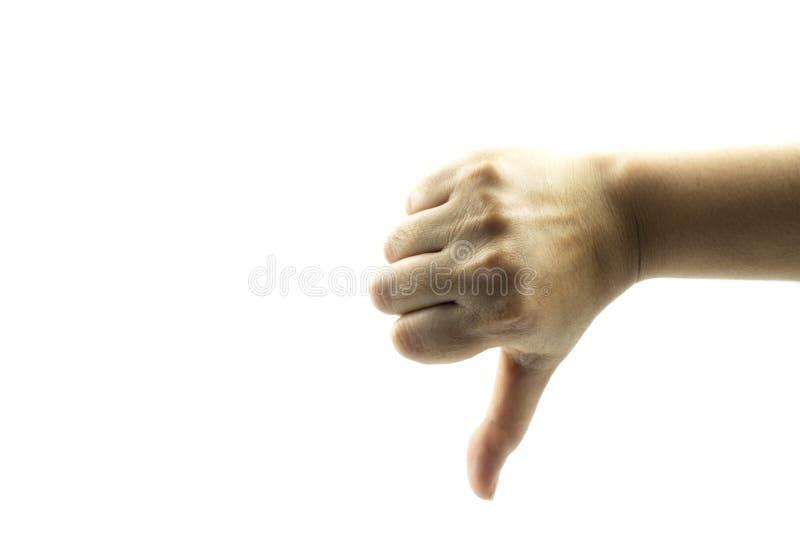 Händer som visar gester royaltyfri bild