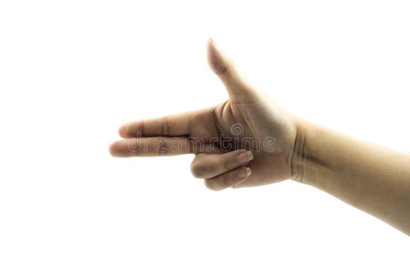 Händer som visar gester arkivbilder