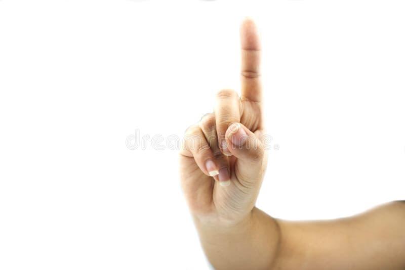 Händer som visar gester royaltyfria foton