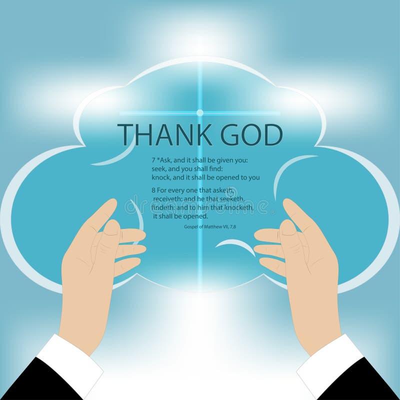 Händer till guden vektor illustrationer