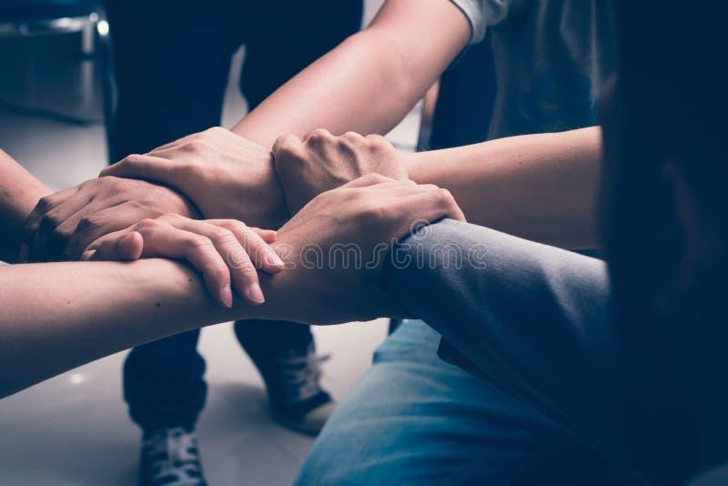 Händer var ett samarbete arkivfoto