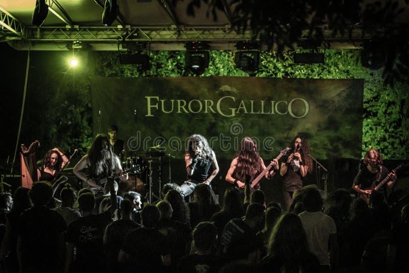 Hänförelse Gallico på den Pollo metallfesten BG 2019 arkivbilder
