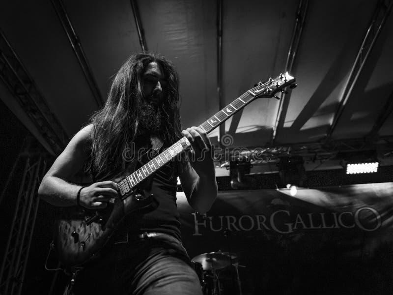 Hänförelse Gallico på den Pollo metallfesten BG 2019 royaltyfri foto