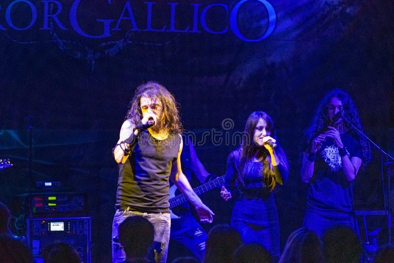 Hänförelse Gallico på den Pollo metallfesten BG 2019 royaltyfri fotografi