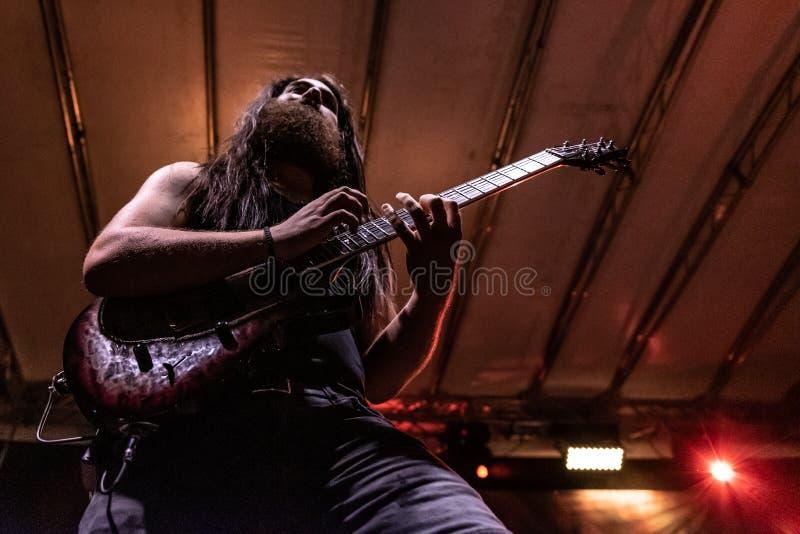 Hänförelse Gallico på den Pollo metallfesten BG 2019 royaltyfri bild