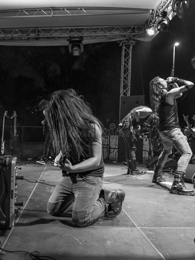 Hänförelse Gallico på den Pollo metallfesten BG 2019 fotografering för bildbyråer