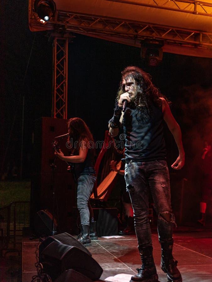 Hänförelse Gallico på den Pollo metallfesten BG 2019 arkivfoto