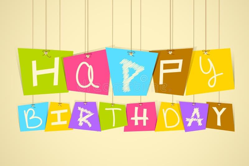 hänga för födelsedag som är lyckligt royaltyfri illustrationer