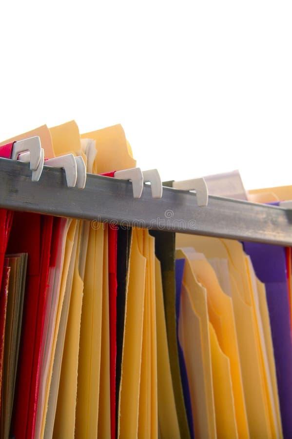 hänga för mappar arkivbild