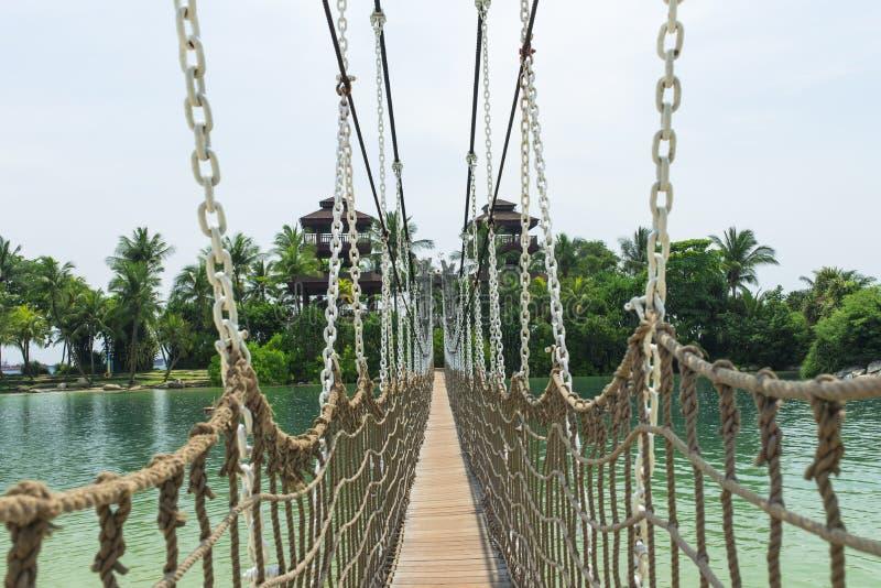 Hängande bro fotografering för bildbyråer