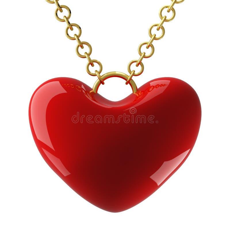 hängande hjärta för strömkrets stock illustrationer