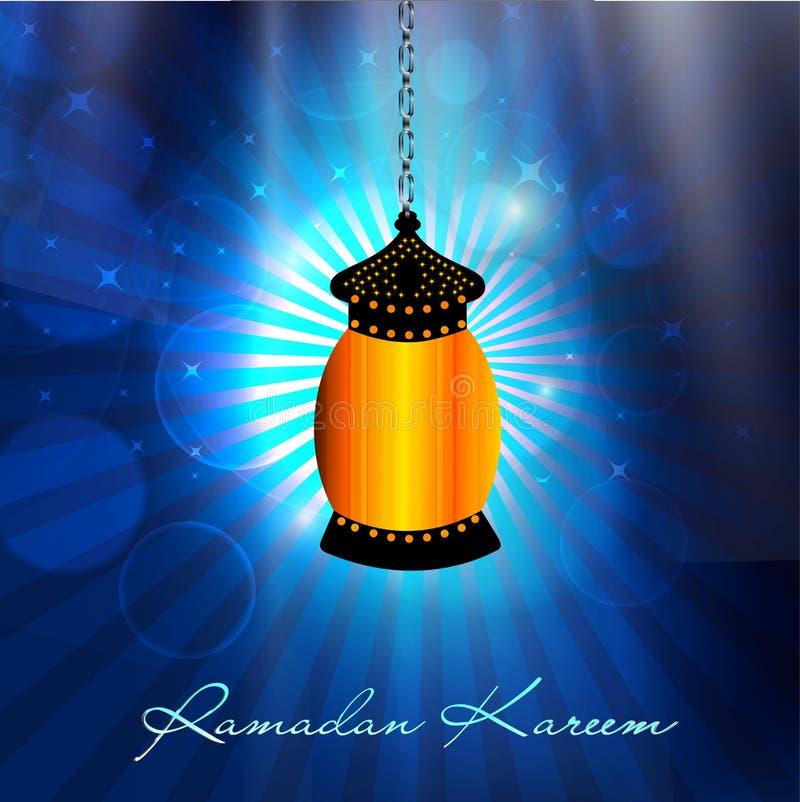 Hängande invecklad arabisk lampa vektor illustrationer