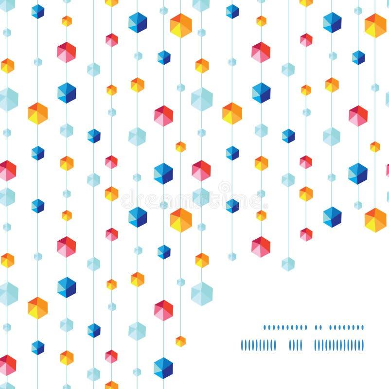 Hängande juvlar gjord randig ram för vektorabstrakt begrepp stock illustrationer