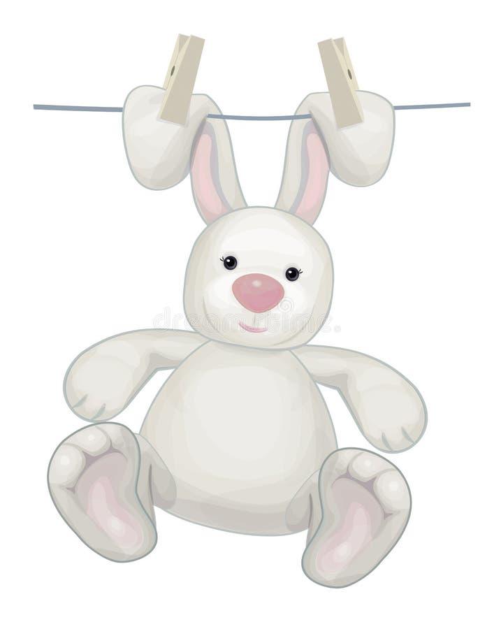 Hängande kanin för vektor royaltyfri illustrationer