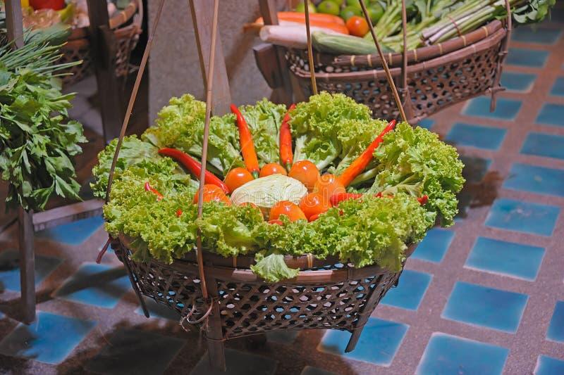 Grönsaken marknadsför royaltyfria bilder