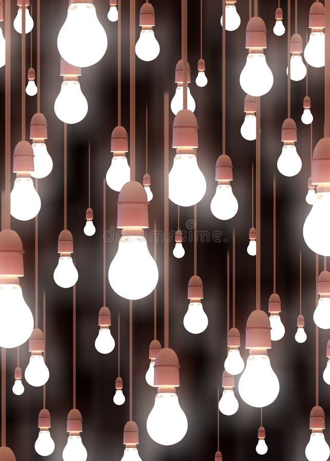 hängande lampor stock illustrationer