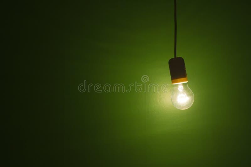 hängande lightbulb fotografering för bildbyråer