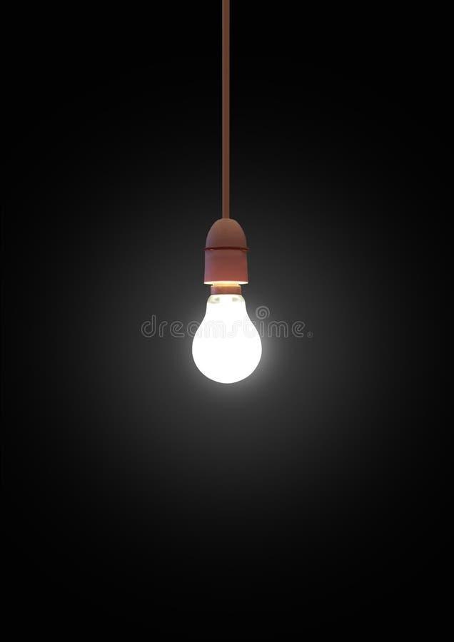 hängande lightbulb arkivfoto