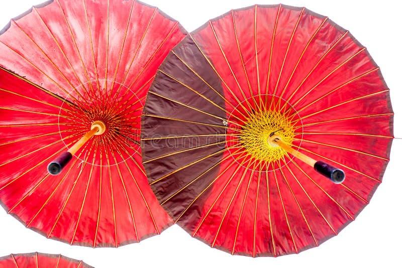 Hängande paraplyer royaltyfri bild