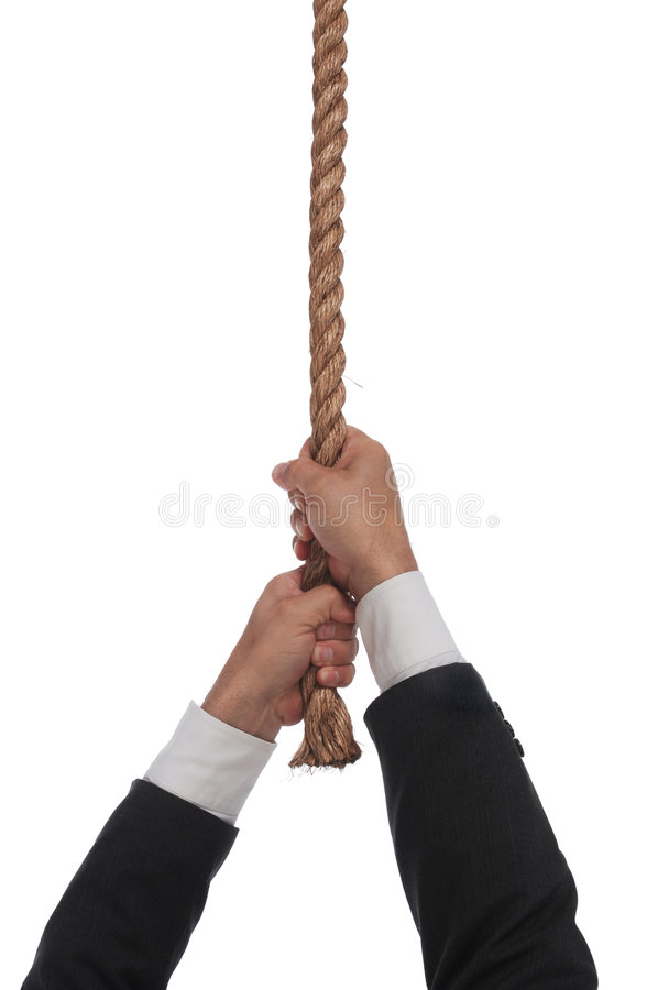 hängande rep för slut arkivbild