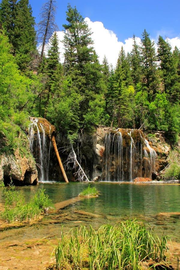 Hängande sjö, Glenwood kanjon, Colorado royaltyfria bilder