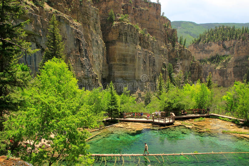 Hängande sjö, Glenwood kanjon, Colorado royaltyfri bild