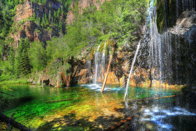 Hängande sjö, Glenwood Springs, Colorado arkivfoton