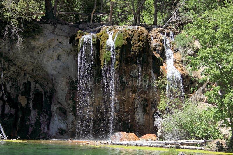 Hängande sjö i den Glenwood kanjonen royaltyfri bild