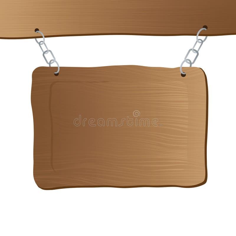hängande stolpetecken stock illustrationer