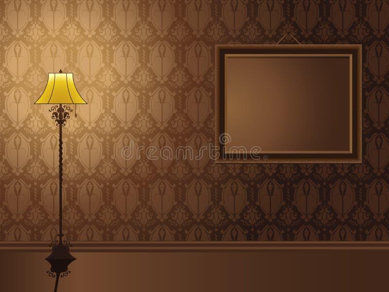 hängande tappningvägg för ram royaltyfri illustrationer