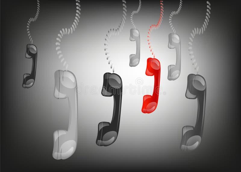 Download Hängande Telefontelefonlurar I Svart Bakgrund, Vektor Illustrationer - Illustration av hänga, meddelande: 78731068