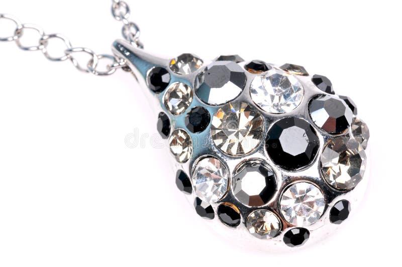 hänge för closeupdiamantsmycken arkivfoto