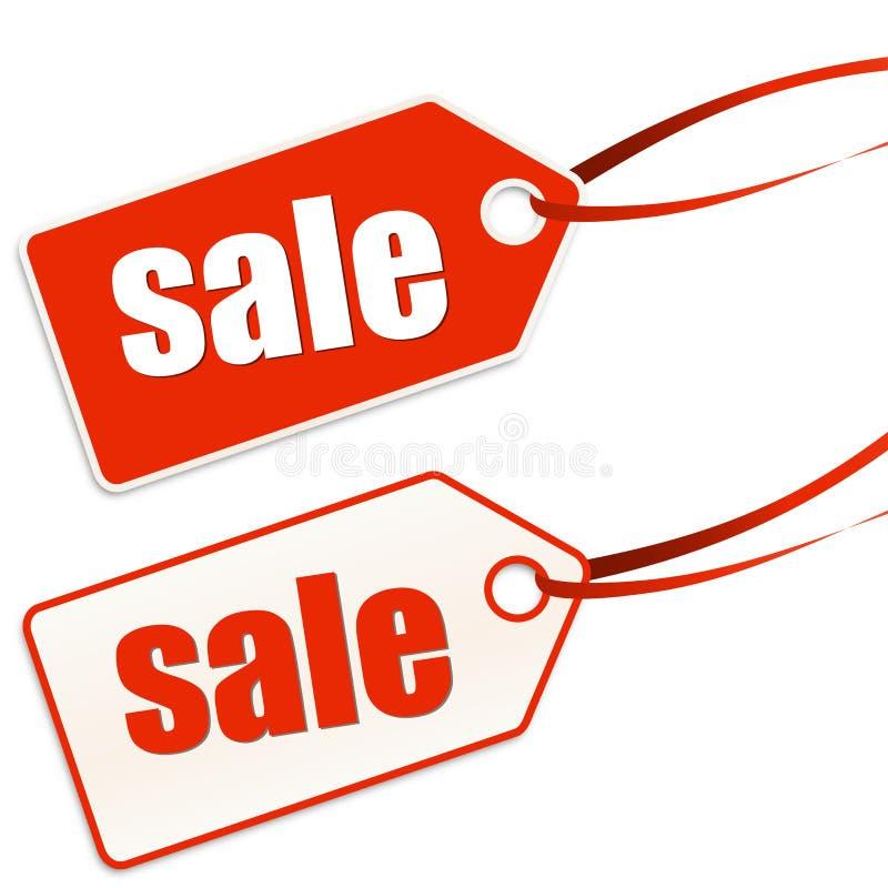Hänge märkt försäljning royaltyfri illustrationer