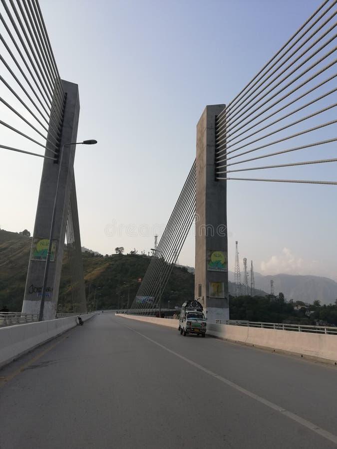 Hängebrücke Muzaffarabad stockbild
