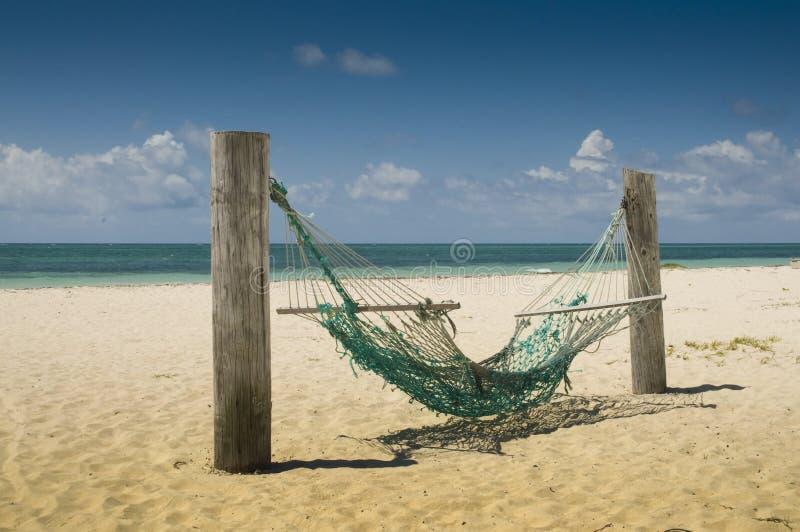 Hängematte auf einem Strand lizenzfreie stockfotos