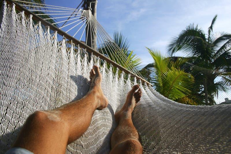 Hängematte entspannen sich lizenzfreies stockfoto