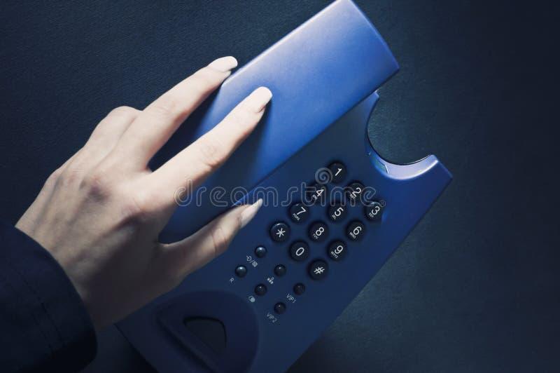 Hängen herauf das Telefon lizenzfreie stockfotos