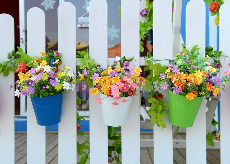 h ngende blumen t pfe stockfoto bild von haupt flowerpot 32016560. Black Bedroom Furniture Sets. Home Design Ideas