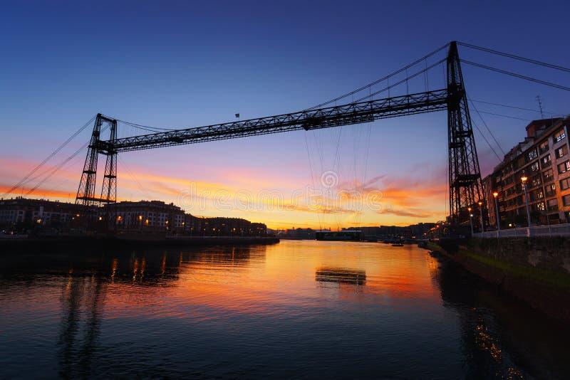 Hängende Brücke von Vizcaya stockfoto