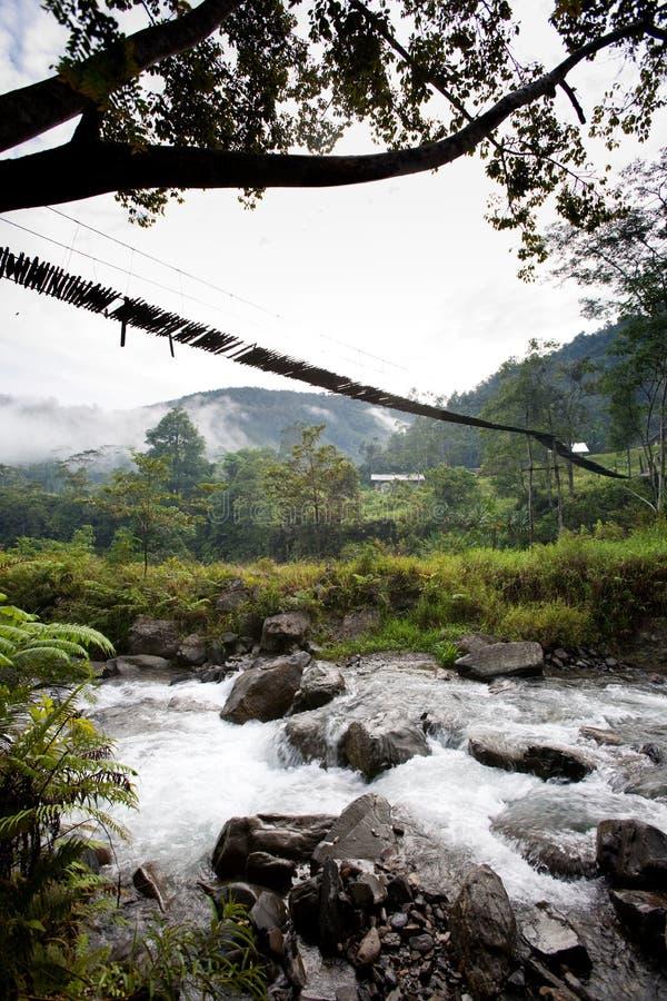 Hängende Brücken-Aufhebung stockbilder