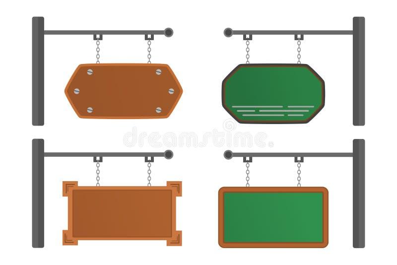 Hängende Bretter mit verschiedenen Formen lizenzfreies stockfoto