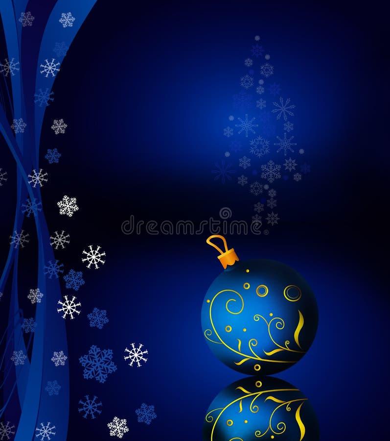 Hängende Kugel und Schneeflocken stock abbildung