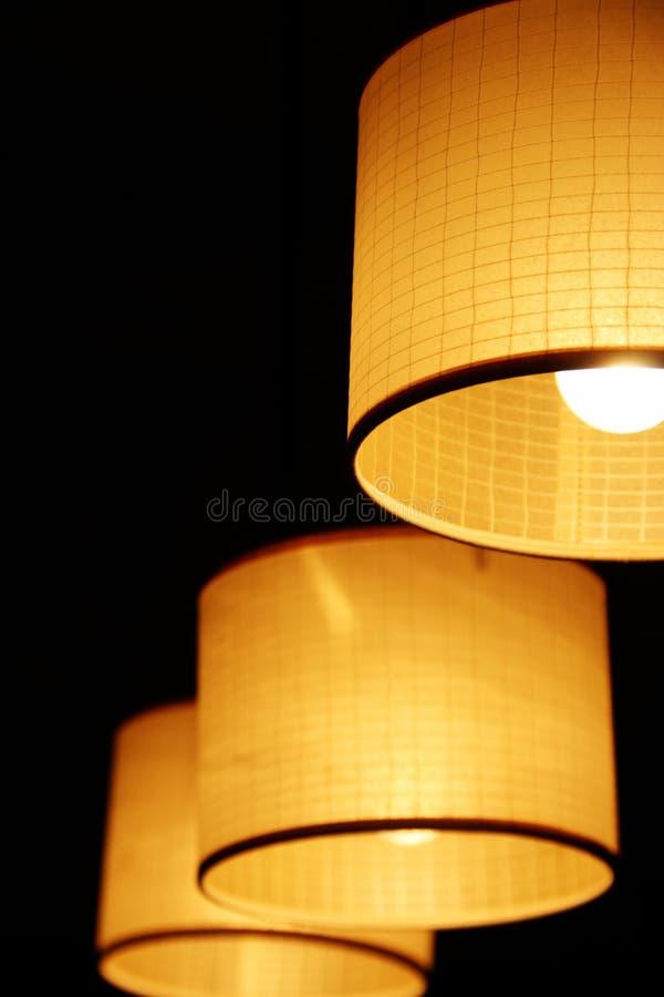 Hängende Lampen stockbild
