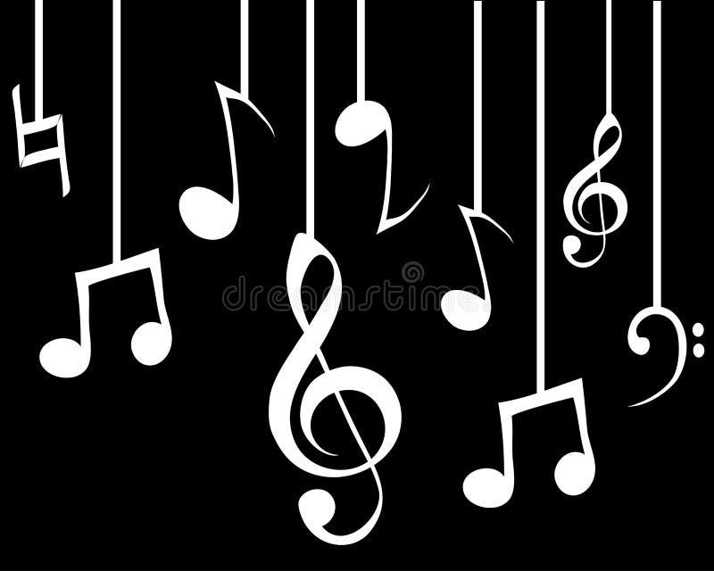 Hängende Melodien lizenzfreie stockbilder