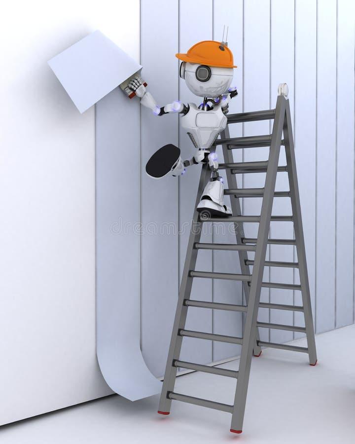 Hängende Tapete des Roboters lizenzfreie abbildung