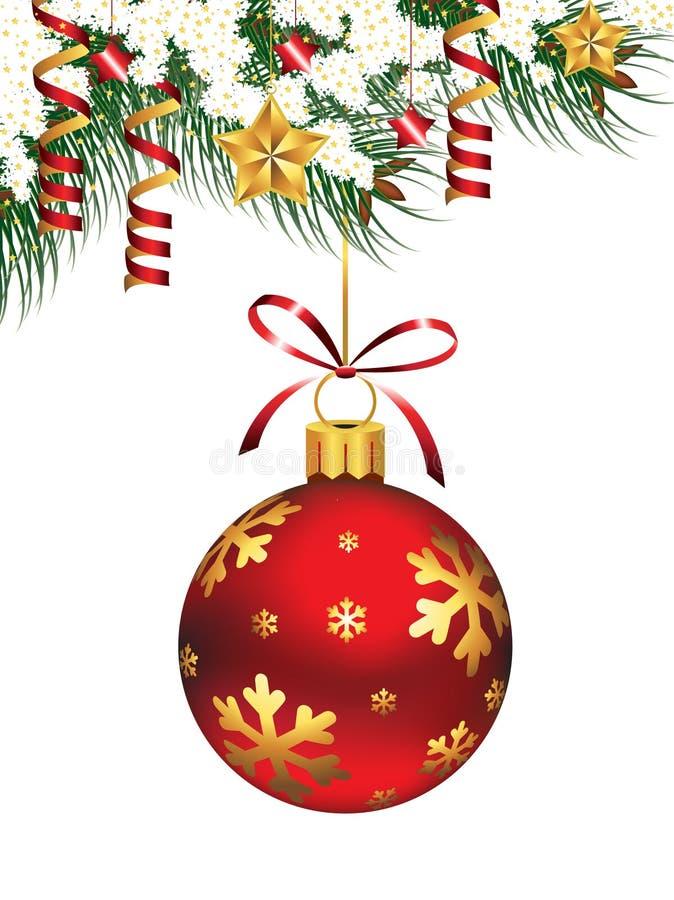 Hängende Weihnachtsverzierung lizenzfreie abbildung