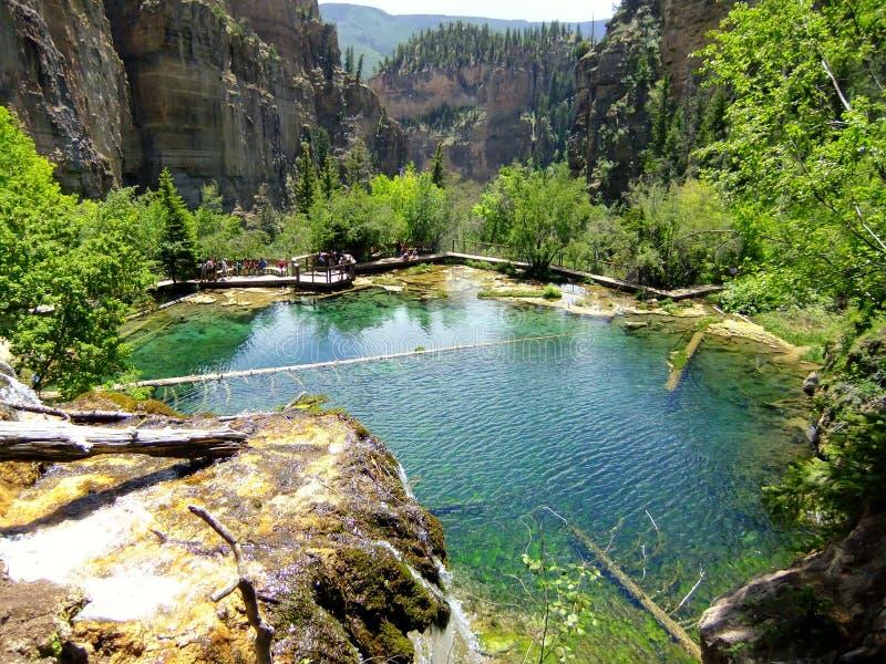 Hängender See, Glenwood-Schlucht, Colorado stockfotos