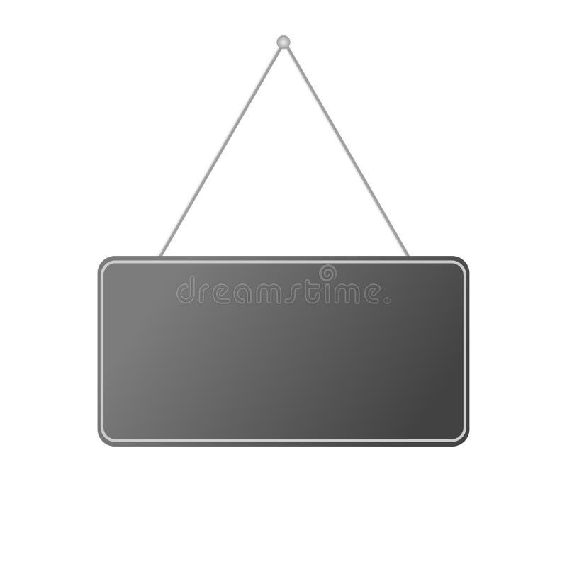 Hängender weißer Hintergrund der Platte der leeren realistischen Tür vektor abbildung